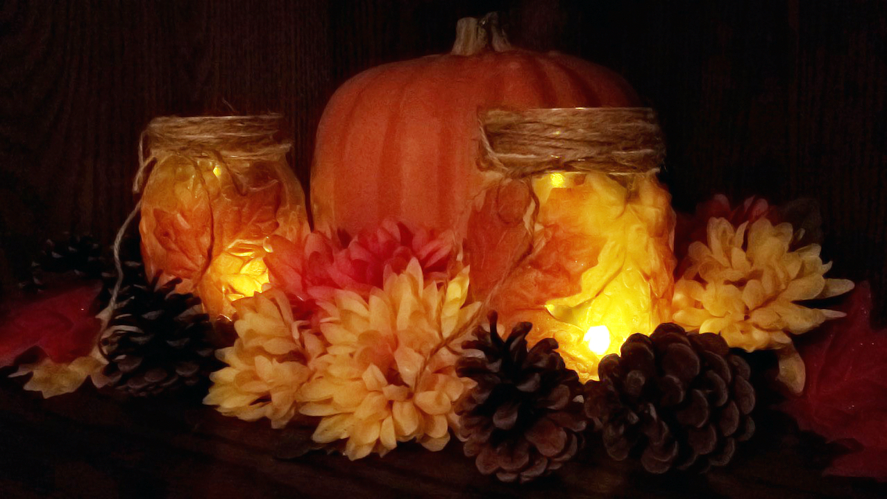 [DIY – Maple Leaf Mason Jar]