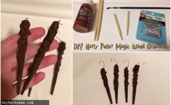 DIY - Harry Potter Magic Wand Ornaments